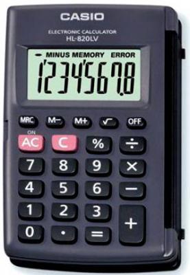 Калькулятор карманный CASIO HL-820LV 8-разрядный