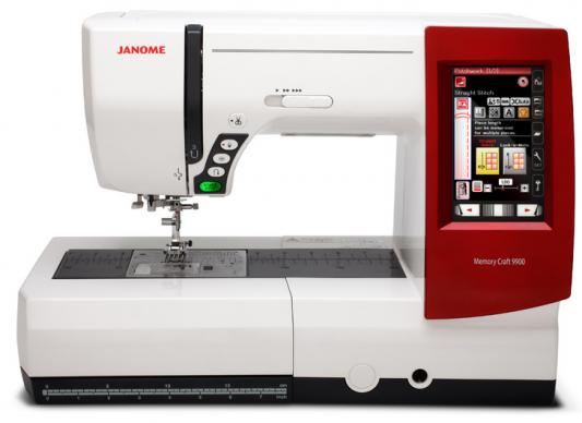 Швейная машина Janome Memory Craft 9900 белый/красный  janome horizon memory craft 8200 qc