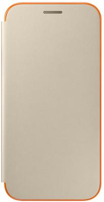 Чехол Samsung EF-FA720PFEGRU для Samsung Galaxy A7 2017 Neon Flip Cover золотистый