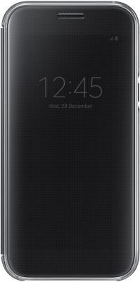Чехол Samsung EF-ZA520CBEGRU для Samsung Galaxy A5 2017 Clear View Cover черный аксессуар чехол samsung galaxy a5 2017 clear cover transparent ef qa520ttegru