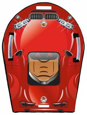 Ледянка RT SNOW AUTO LX6 до 150 кг красный ПВХ