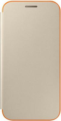 купить Чехол Samsung EF-FA320PFEGRU для Samsung Galaxy A3 2017 Neon Flip Cover золотистый недорого
