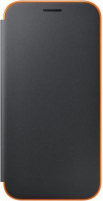 Чехол Samsung EF-FA720PBEGRU для Samsung Galaxy A7 2017 Neon Flip Cover черный