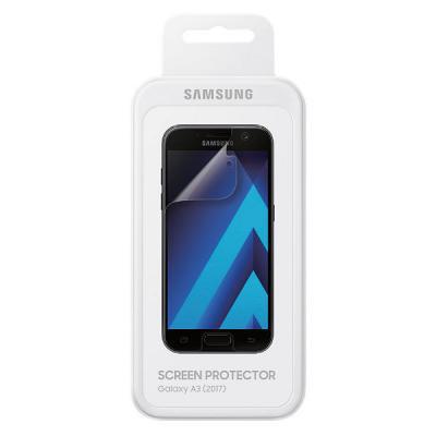 Пленка защитная прозрачная Samsung ET-FA320CTEGRU для Samsung Galaxy A3 2017 sport running bluetooth earphone for samsung galaxy a3 2016 wireless earbuds headsets with microphone
