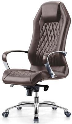 Кресло Бюрократ Aura/Brown кожа коричневый кресло бюрократ aura brown