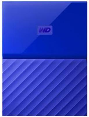 "Внешний жесткий диск 2.5"" USB3.0 3 Tb Western Digital My Passport WDBUAX0030BBL-EEUE синий"