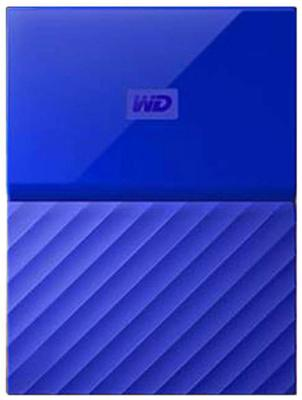 Внешний жесткий диск 2.5 USB3.0 4 Tb Western Digital My Passport WDBUAX0040BBL-EEUE синий t5 car 5 0mp digital video camcorder w 4 ir led 4x digital zoom 2 7 tft