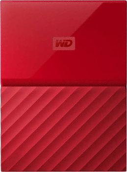 """Внешний жесткий диск 2.5"""" USB3.0 3 Tb Western Digital My Passport WDBUAX0030BRD-EEUE красный"""