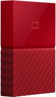 Внешний жесткий диск 2.5 USB3.0 4 Tb Western Digital My Passport WDBUAX0040BRD-EEUE красный