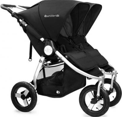 Коляска прогулочная для двоих детей Bumbleride Indie Twin (silver black)