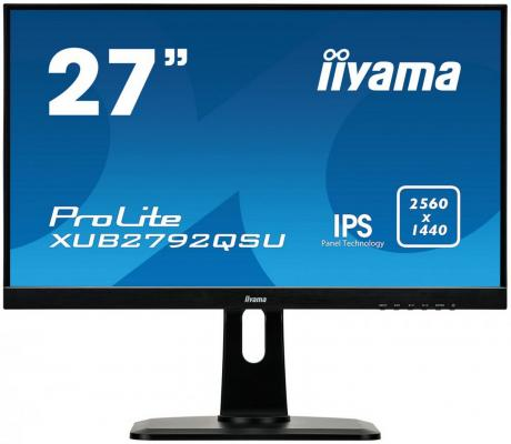 Монитор 27 iiYama XUB2792QSU-B1 кабель удлинитель для монитора vga 15m 15f 1 8м