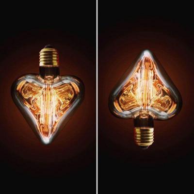 Купить Лампа накаливания E27 40W сердце прозрачное 2740-H, Loft IT