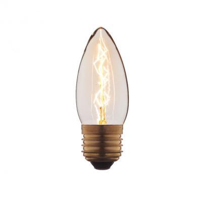 Лампа накаливания E27 40W свеча прозрачная 3540-E