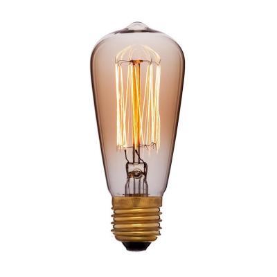 Лампа накаливания E27 25W колба золотая 053-549 радиоприемник 25 hifi 25w
