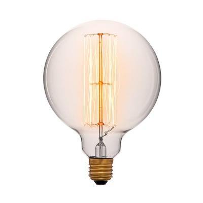 Лампа накаливания E27 60W шар прозрачный 054-027