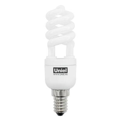 Лампа энергосберегающая (00654) E14 11W 2700K полуспираль мини матовая ESL-H21-11/2700/E14