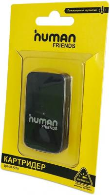 Картридер внешний CBR Human Friends Speed Rate Multi Black MicroSD картридер внешний cbr human friends speed rate futuric black microsd t flash page 2 page 5