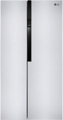 Холодильник Side by Side LG GC-B247JMUV серебристый холодильник side by side samsung rs 552 nrua9m wt