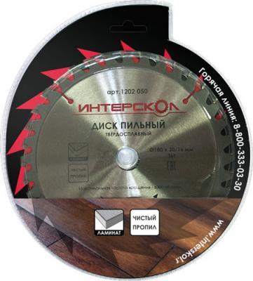Пильный диск Интерскол 180x20/16-36T для ламината 1202.050