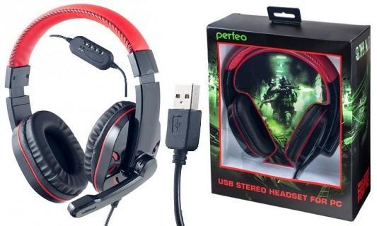 Гарнитура Perfeo SWAT черный/красный PF-SWT-BLK/RED радиоприемник perfeo егерь fm красный i120 red