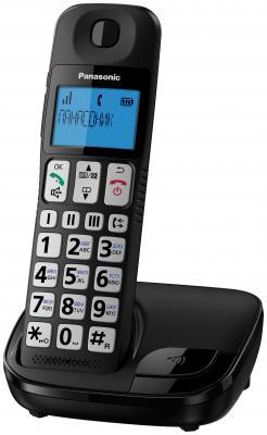 Радиотелефон DECT Panasonic KX-TGE110RUB черный радиотелефон dect panasonic kx prx120ruw черный белый