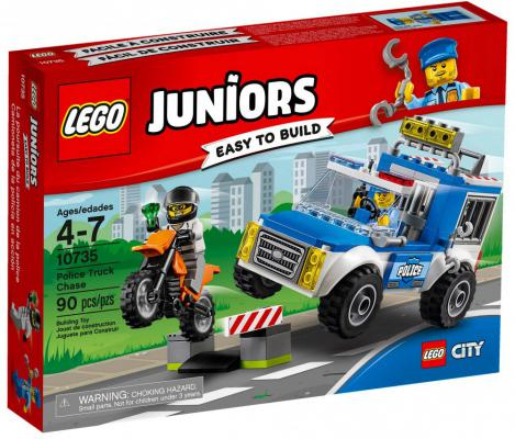 """Конструктор LEGO """"Джуниорс"""" - Погоня на полицейском грузовике 90 элементов  10735"""