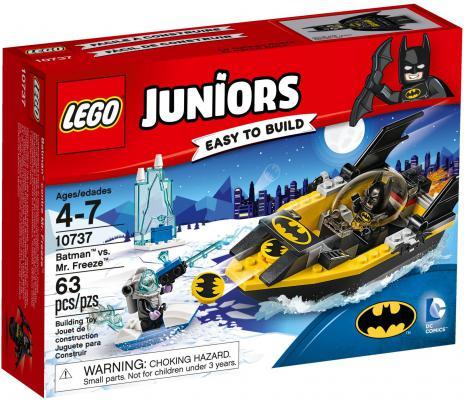 Конструктор LEGO Джуниорс Бэтмен против Мистера Фриза 63 элемента 10737 lego juniors конструктор бэтмен против мистера фриза 10737