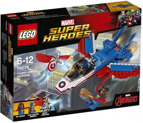"""Конструктор LEGO """"Супергерои"""" - Воздушная погоня Капитана Америки 160 элементов"""