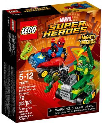 """Конструктор LEGO """"Супергерои"""" - Человек-паук против Скорпиона 79 элементов  76071"""