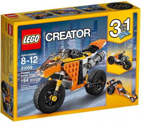 Конструктор LEGO Creator: Жёлтый мотоцикл 194 элемента 31059