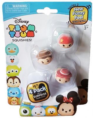 Фигурка коллекционная Tsum Tsum, уп-ка из 4 шт., 12 шт. в дисплее new in box tsum tsum stack n play toy shop original