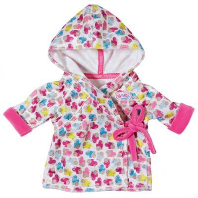 Одежда для кукол Zapf Creation Baby Born Халат с капюшоном, веш.