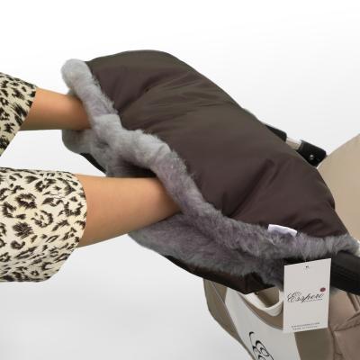 Муфта для рук на коляску Esspero Solana (натуральная шерсть/brown)