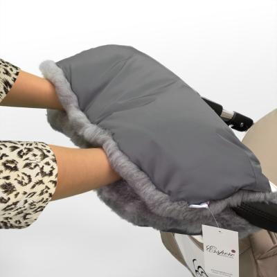 Муфта для рук на коляску Esspero Solana (натуральная шерсть/grey)