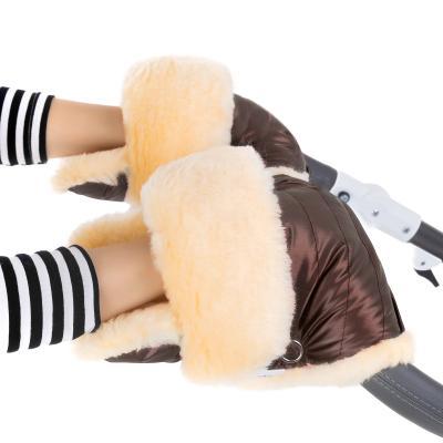 Муфта-рукавички для коляски Esspero Oskar (натуральная шерсть/mocca)