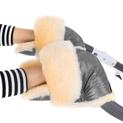 Муфта-рукавички для коляски Esspero Oskar (натуральная шерсть/graphite)