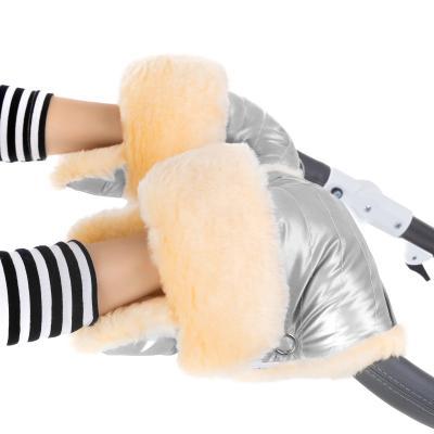 Муфта-рукавички для коляски Esspero Oskar (натуральная шерсть/silver)