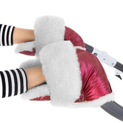 Муфта-рукавички для коляски Esspero Christer (натуральная шерсть/ruby)