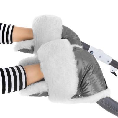 Муфта-рукавички для коляски Esspero Christer (натуральная шерсть/graphite)
