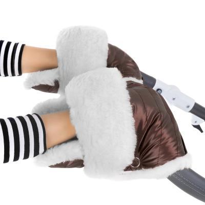 Муфта-рукавички для коляски Esspero Christer (натуральная шерсть/mocca)