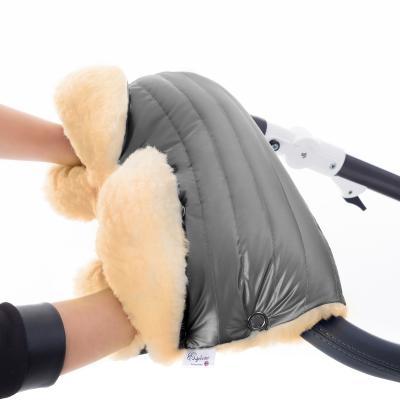 Муфта для рук на коляску Esspero Diaz Lux (натуральная шерсть/graphite)