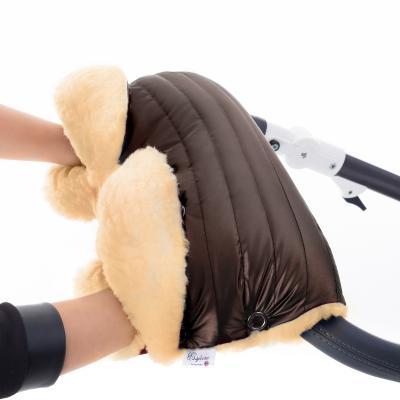 Муфта для рук на коляску Esspero Diaz Lux (натуральная шерсть/mocca)