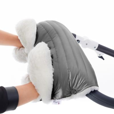 Муфта для рук на коляску Esspero Soft Fur Lux (натуральная шерсть/graphite)