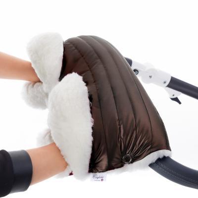 Муфта для рук на коляску Esspero Soft Fur Lux (натуральная шерсть/mocca)