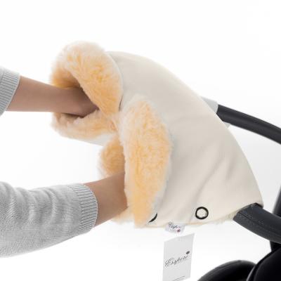 Муфта для рук на коляску Esspero Linda (100% овечья шерсть/beige)