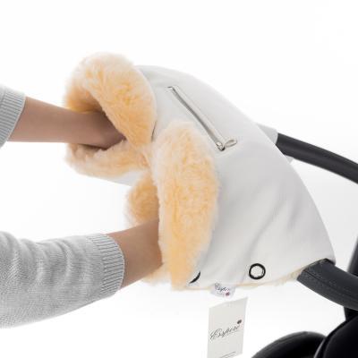 Муфта для рук на коляску Esspero Isabella (100% овечья шерсть/white)