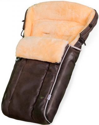 Конверт в коляску Esspero Lukas Lux (натуральная 100% шерсть/brown)