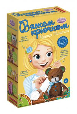 Набор для вязания Bondibon Вязание крючком - Мишка Тимоша от 6 лет