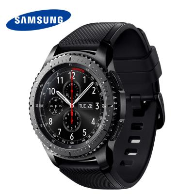 Смарт-часы Samsung Galaxy Gear S3 Frontier SM-R760 1.3 Super AMOLED темно-серый SM-R760NDAASER смарт часы samsung gear s3 frontier матовый титан