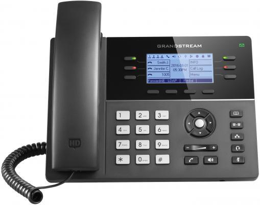 Телефон IP Grandstream GXP1760 6 линий 3 SIP-аккаунта 2x10/100Mbps LCD PoE BLF